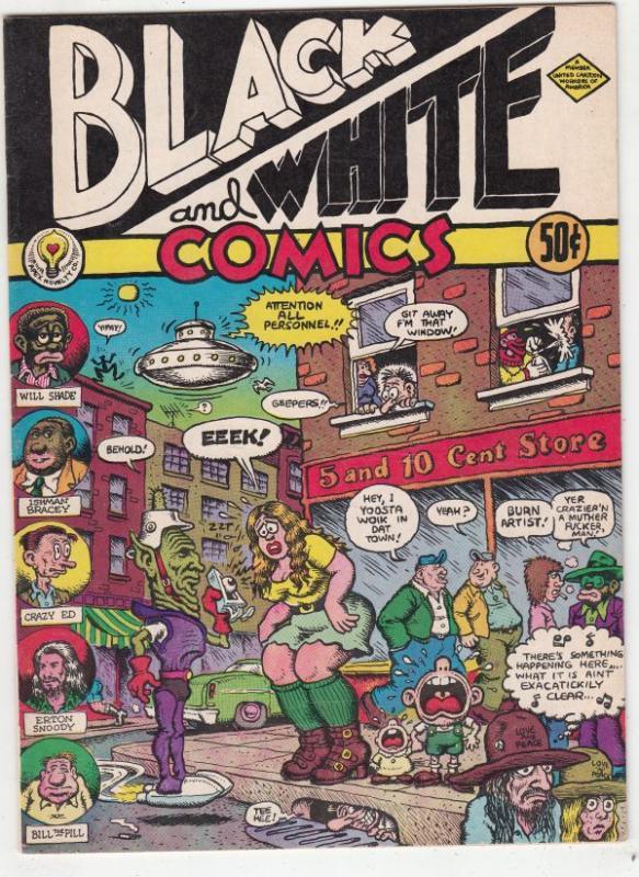 Black And White Comics #1 (Jan-73) NM- High-Grade R.Crumb as himself!