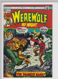 Werewolf by Night #4 (Mar 1973) 7.5 VF- Marvel Horror
