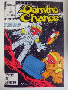 Domino Chance #7 (1983) Crisis in Space! + Backup Story by Michael Dooney Signed