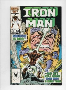 IRON MAN #205, VF/NM Tony Stark, Modok, 1968 1986, more IM in store, Marvel