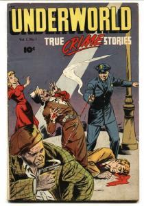 Underworld #1 1948 1st issue-excessive violence-Spicy Gun Moll art FN