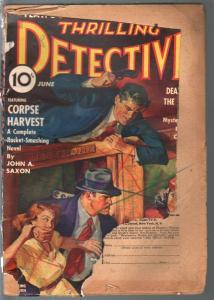 Thrilling Detective 6/1939-hardboiled mystery & crime-FR