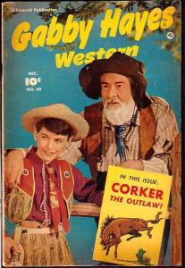 GABBY HAYES WESTERN #49-FAWCETT PUBS-PHOTO CVR-1952 FN