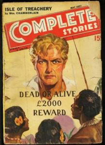 COMPLETE STORIES 1937 MAY-STREET & SMITH PULP G/VG