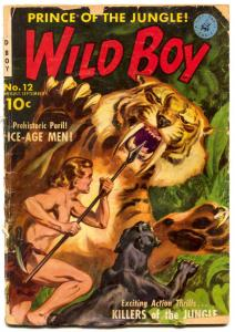 Wild Boy #12 1951- Norman Saunders Tiger cover- Golden Age FAIR