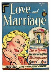 LOVE AND MARRIAGE #2-Spicy Romance 1952-LINGERIE SCENES-Headlights
