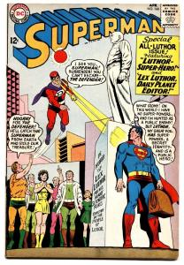Superman #168 comic book 1964-dc Comics-lex Luthor Statue- Crime