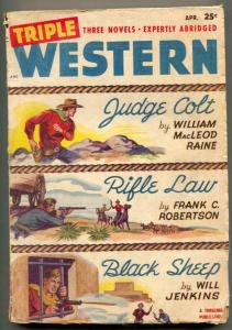 Triple Western Pulp April 1948- Judge Colt- Black Sheep