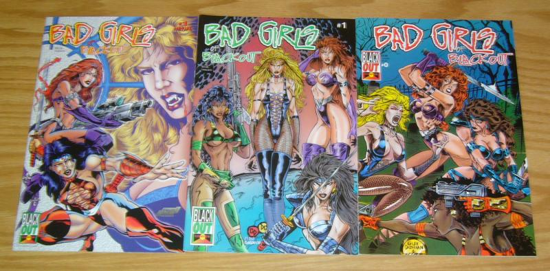 Bad Girls of Black Out #0-1 VF/NM complete series + annual LADY VAMPRE comic set