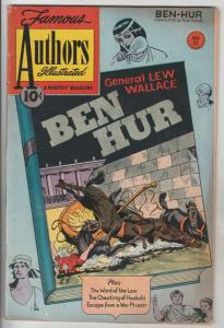 Famous Authors Illustrated, Stories By #11 (Jan-51) VG/FN+ Mid-Grade Ben Hur