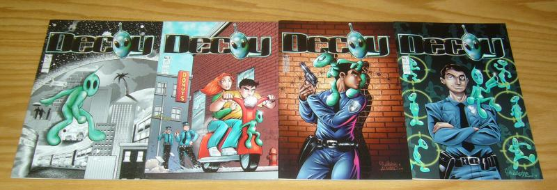 Decoy #1-4 VF/NM complete series - alien & cop team-up comics penny-farthing set