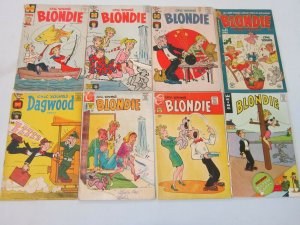 Chic Young Blondie Comic Lot 8 Different Books 4.0 VG