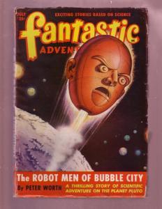 FANTASTIC ADVENTURES-JULY 1949-PULP-ADVENTURE ON PLUTO VG/FN