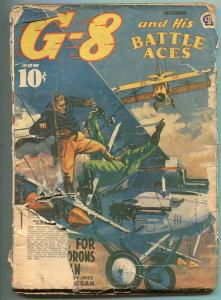 G-8 AND HIS BATTLE ACES 10/1940-RED SKIES FOR THE SQUADRON OF SATAN-fr
