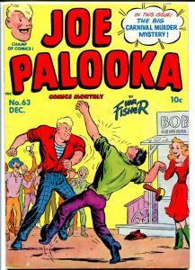 JOE PALOOKA #63 1951-HARVEY COMICS-CARNIVAL MURDER-COOL VG+