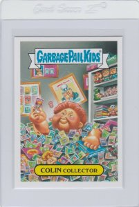 Garbage Pail Kids Colin Collector 9b GPK 2016 American As Apple Pie In Your Face
