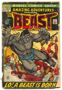 Amazing Adventures #11 1972 marvel First furry beast x-men FAIR