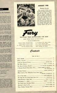 Fury Magazine August 1955- H-Bombs- Mata Hari- Constipation