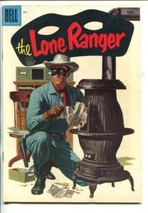THE LONE RANGER #95-1956-DELL-TONTO-SCOUT-SILVER-SILVER BULLET-vg