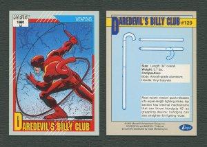 1991 Marvel Comics II  Card  #129 ( Daredevil's Billy Club )  MINT