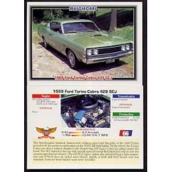 1992 Collect-A-Card Musclecars 1969 FORD TORINO COBRA 428 SCJ #66