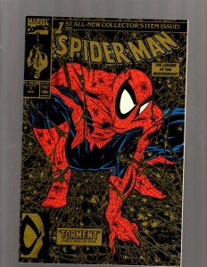 Lot Of 2 Spider-Man Marvel Comic Books Spider-Man # 1 Gold + Amazing # 372 RP5