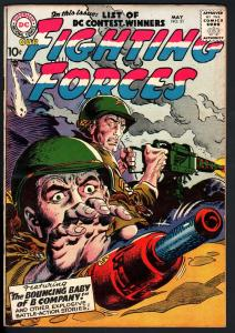 OUR FIGHTING FORCES #21 1957-DC WAR COMICS--WW II--HIGH GRADE