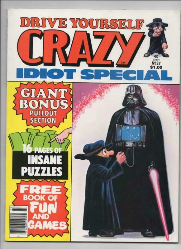 CRAZY #37 Magazine, VF, Star Wars Darth Vader, 84 pgs, 1973 1978, more in store