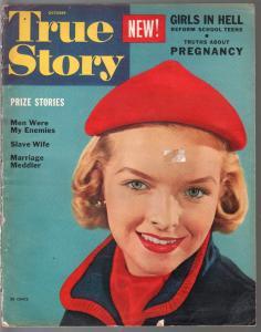 True Story 10/1953-Marilyn Monroe ad-exploitation-posed pix-Girls In Hell-G
