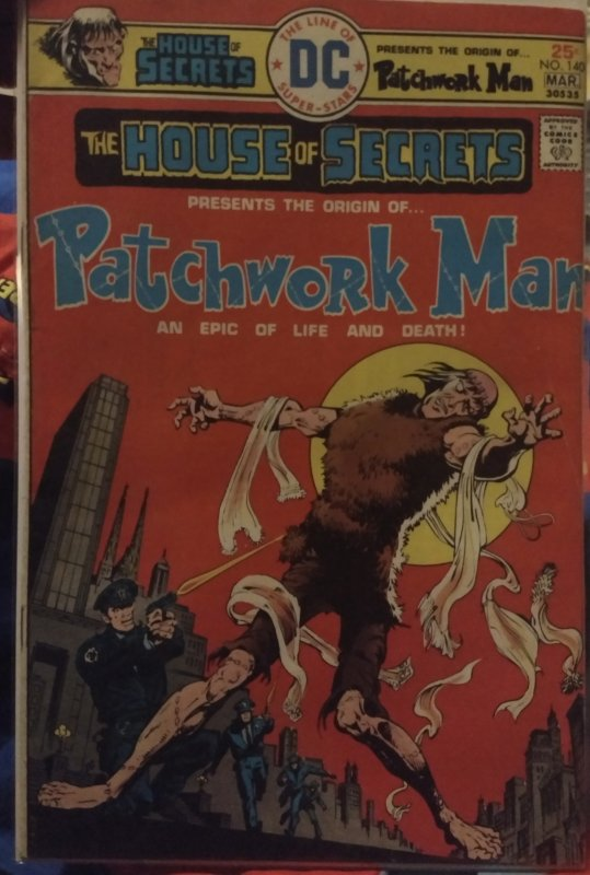 The House of Secrets Presents The Origin of Patchwork Man! #140 FN