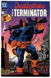 DEATHSTROKE THE TERMINATOR #1-1991-comic book HIGH GRADE-DC-KEY.