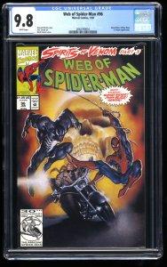 Web of Spider-Man #96 CGC NM/M 9.8 White Pages Venom Ghost Rider!