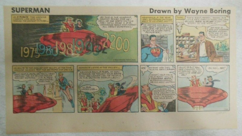 Superman Sunday Page #1120 by Wayne Boring from 4/2/1961 Size ~7.5 x 15 inches