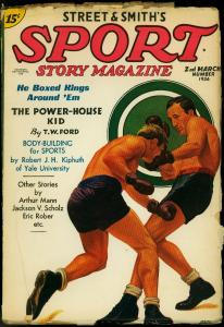 Sport Story Pulp 2nd March 1936- Boxing cover- TW Ford- VG/F