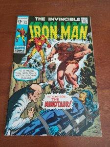 Invincible Iron Man Apr #24 (1970) Marvel Comic Book