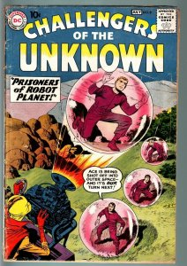 CHALLENGERS OF THE UNKNOWN #8-JACK KIRBY-WALLY WOOD-DC-SCI FI SERIES-1959-G + G+