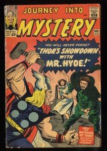 Journey Into Mystery #100 VG 4.0