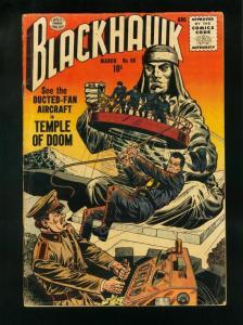 BLACKHAWK COMICS #98 1956-TEMPLE OF DOOM-QUALITY COMICS- vg VG