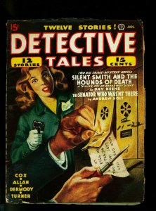 Detective Tales Pulp January 1945 -Talmage Powell - Day Keene - VG