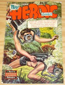New Heroic Comics #91 VG- june 1954 - golden age famous funnies
