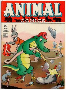 ANIMAL COMICS #10 (Aug1944) 13 pages of Walt Kelly Brilliance! + ALBERT on cover