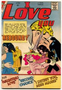 I Love You Comic #25 1959- Charlton Romance- Haunting Love VG-