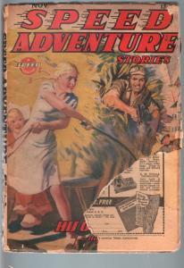 SPEED ADVENTURE STORIES 1944 NOV-SPICY MENACE PULP! FR/G