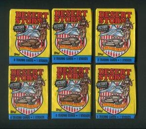 1991 Topps Desert Storm Trading cards  unopened Packs ( 6 )