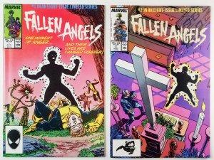 ? Fallen Angels Limited Mini-series 1987 Compete Run - NEW MUTANTS High Grade