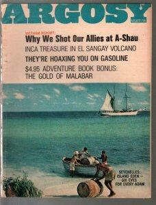 Argosy 8/1967-Vietnam Report-Jack Schaffer-Prince Of Crime-pulp fiction-FN