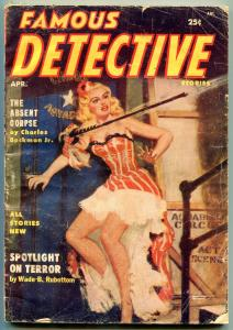 Famous Detective Stories Pulp April 1955- Absent Corpse G/VG
