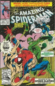 Amazing Spiderman #370 ORIGINAL Vintage 1992 Marvel Comics Black Cat Scorpion