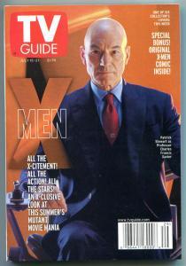 X-MEN TV guide, Patrick Stewart, Mutant, July 15-21 2000, X-men more in store