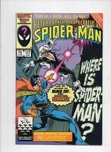 Peter Parker SPECTACULAR SPIDER-MAN #117 VF, Dr Strange 1976 1986 Marvel
